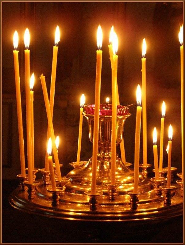 Мне подарили церковную свечу