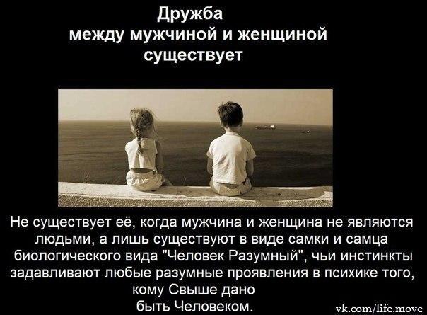 Открытка про дружбу между мужчиной и женщиной