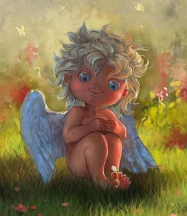 Картинка с ангелом доброе утро, открытка лет