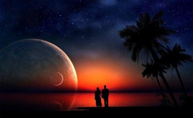 картинки любовь ночь