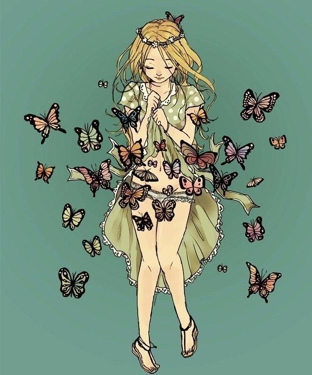 Бабочки в животе картинки