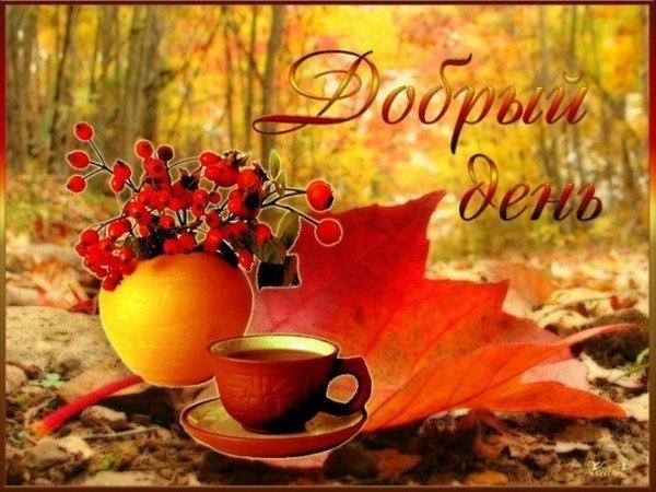 Открытки с хорошим осенним днем и настроением