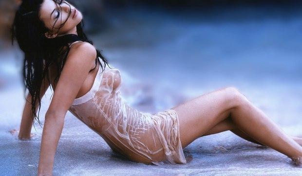 Фото девушки мокрые