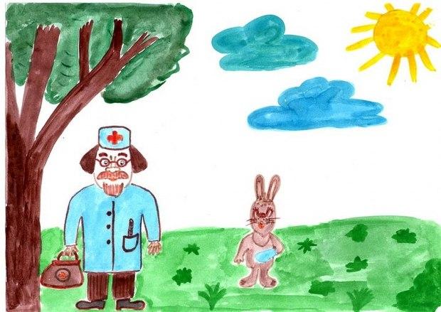 доктор айболит рисунки для читательского дневника для меня несколько