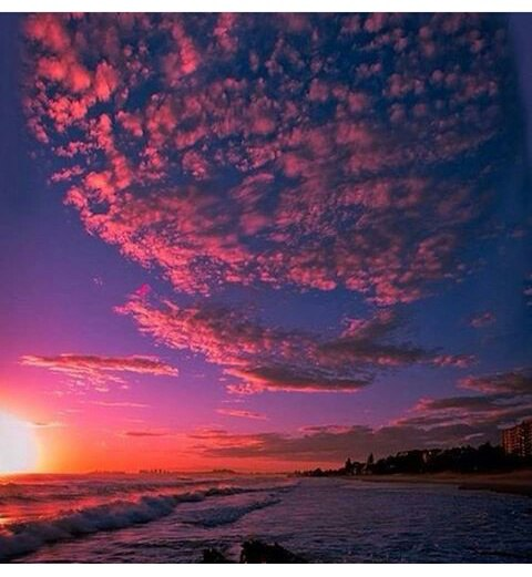 фото красивый закат